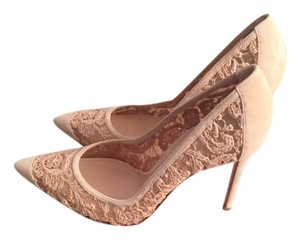 Gianvito Rossi Nude 'elodie' Lace Beige Pumps