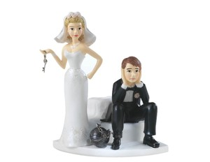Humor Wedding Ball And Chain Humorous Cake Topper Funny Cake Topper For Any Theme Wedding