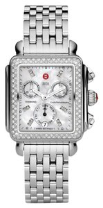 Michele NEW Michele Deco Day Diamond Dial Steel MWW06P000099 Ladies Watch