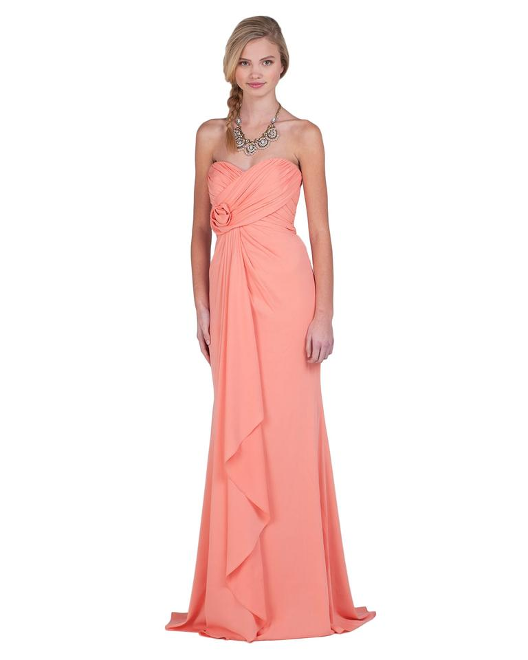 Badgley Mischka Coral Polyesterspandex Gown Style Eg1259 Color