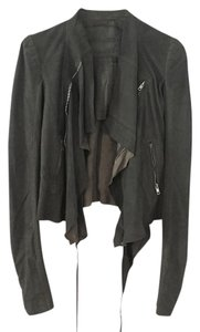 Rick Owens Green Leather Jacket
