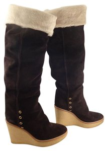 Saint Laurent Tribute Ysl Tribtto Wedge brown Boots