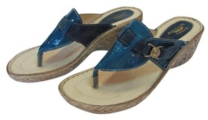 Spring Step New Size 9.00 M Leather Very Good Condition Blue, Sandals