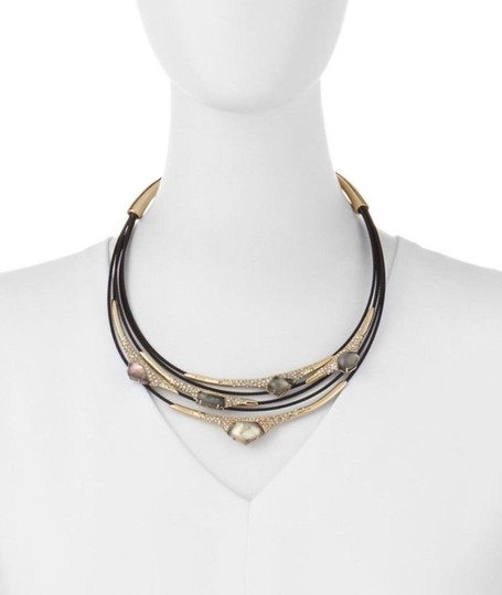 Alexis Bittar Alexis Bittar Mother-Of-Pearl Pave Crystal Black Cable Necklace