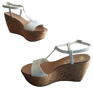 Juicy Couture #cork White Wedges
