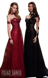 Fouad Sarkis Long Ball Gown Gown Dress