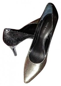 Nine West Silver Gray/Reptile Print Formal