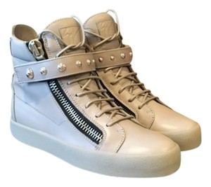 Giuseppe Zanotti Gray Leather Men's Athletic