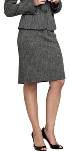 Semantiks Tweed Pencil Piping Skirt Gray