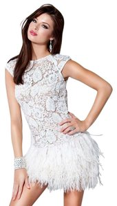 Jovani Prom Pageant Feathers Dress