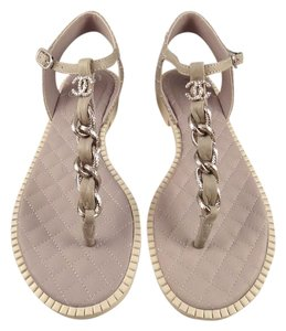 Chanel Chain Pearl Cc Classic Gladiator grey Sandals