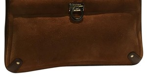 Salvatore Ferragamo Brown Clutch