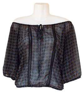 94725e3f43c Mossimo Supply Co. Baby Doll Sheer Off Shoulders Keyhole Lace Top black,  blue,