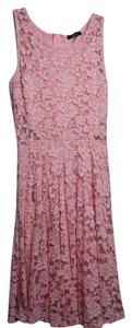 Soprano short dress Pink Orange Salmon A-line Lace Cut-out Elegant on Tradesy