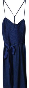 American Eagle Outfitters short dress Navy Lace Racerback Tie on Tradesy