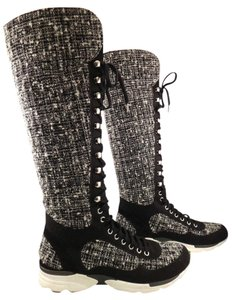Chanel Trainer Boot Laceup Cc black Athletic