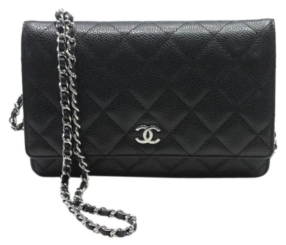 28c6d686fefd Chanel Box W Classic Woc Quilted W/ Silver Hardware New In Black ...