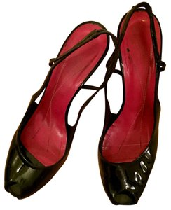 Kate Spade Slingbacks Size 8 1/2 Patent Leather Black Pumps