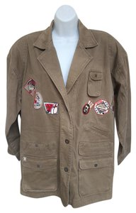 Ultra Pink Vintage Bowling Patches Oversized Military Jacket