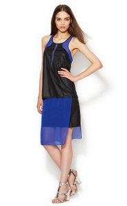 Helmut Lang short dress Blue Black Colorblock Vena Blue on Tradesy