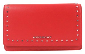 Givenchy Pandora Studded Leather Chain Wallet