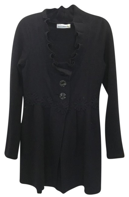 Item - Navy Wool Sweater Coat Size 10 (M)