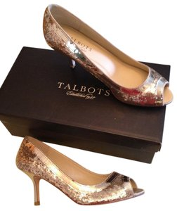 Talbots Metallic Gold Pumps