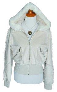 Candie's #fauxsuede #fauxshearling Off-White Jacket