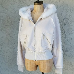Candie's #fauxsuede #fauxshearling #hoodies #candies #bomberjacket Off-White Jacket