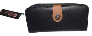 Stone Mountain Accessories GENUINE LEATHER BLACK MULTI COMPARTMENT/BLACK/ gift boxed