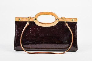 Louis Vuitton Amarante Vernis Satchel in Black