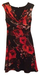 Black & red flower Maxi Dress by Donna Ricco