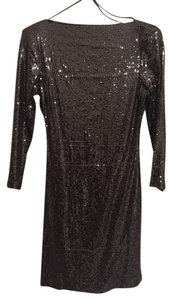 Ali Ro Party Sequin Low Back Mini Dress