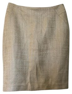 Ann Taylor Evening Pencil Preppy Metallic Holiday Skirt