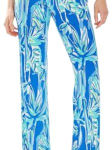 Lilly Pulitzer Wide Leg Pants Blue Crush-Bamboom