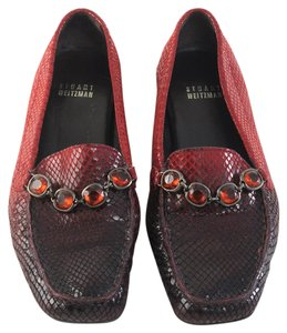 Stuart Weitzman Loafers Drivers Red Flats