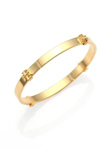 Tory Burch New Tory Burch Station Logo Bracelet Bangle 16k Gold