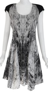 Helmut Lang Silk Suede Leather Print Dress