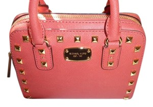 Michael Kors Jet Set Travel Studed Satchel in Watermelon