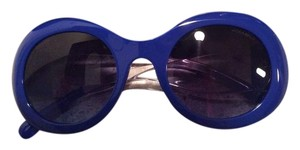 Chanel Chanel Royal Blue Round Oversized Sunglasses