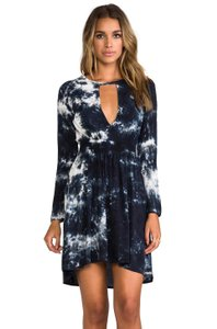 Blu Moon short dress Blue Tie Dye Longsleeve Beachy on Tradesy