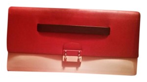 Valentino Red, black and creme Clutch