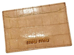 Miu Miu Crocodile Embossed Card Holder