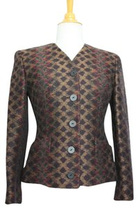 Missoni Donna Italy Wool Vintage Work Suit Print Jacket Fall Winter Multicolor Blazer