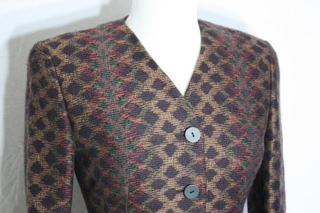 Missoni Donna Italy Wool Vintage Winter Multicolor Blazer Image 2