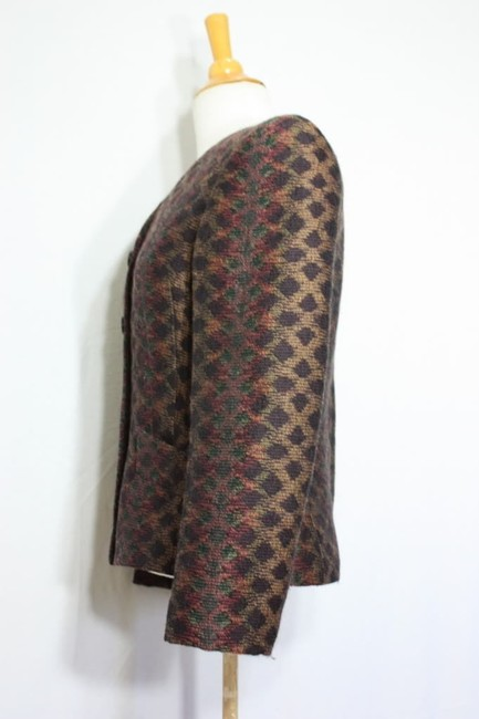 Missoni Donna Italy Wool Vintage Winter Multicolor Blazer Image 3