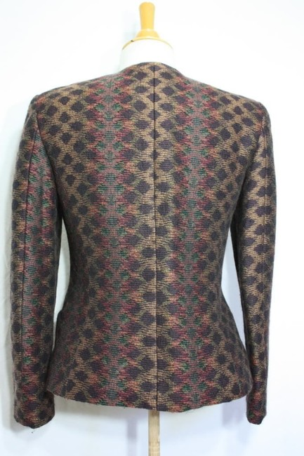 Missoni Donna Italy Wool Vintage Winter Multicolor Blazer Image 4