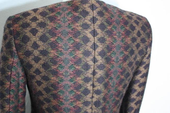 Missoni Donna Italy Wool Vintage Winter Multicolor Blazer Image 5