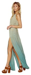 Sea Glass Maxi Dress by Blue Life Slit Tye Dye Long Beachy