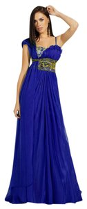 MNM Couture Chiffon Evening Gown Long Party Night Out Dress